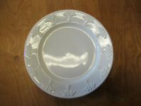 """JCPenney Home ATHENA WHITE Dinner Plate 10 3/4"""" Embossed 1 ea  7 available"""