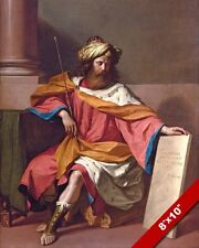 KING DAVID OF ISRAEL JUDAH TORAH PAINTING CHRISTIAN BIBLE ART REAL CANVAS PRINT