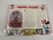 Willabee Ward Disney Collector Patch 1928 MINNIE MOUSE & FACT CARD