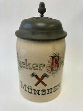 Vintage Hacker Brau Lidded Beer Stein, 0.5L