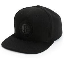 """NBA Mitchell & Ness """"Blacked Out"""" Brooklyn NY NETS Snapback Hat (Black) Cap New"""