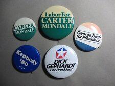 Carter Mondale Kennedy Bush Gephardt Presidential Election Buttons Pinbacks 5