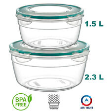 Microwave Safe Lunch Box Airtight, Watertight Smelltight BPA FREE Round 3.8 L