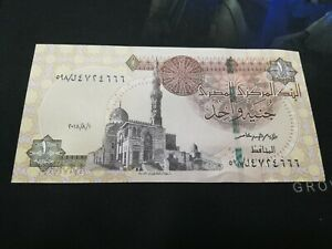 EGYPT 1 POUND 2018 FROM BUNDLE UNC