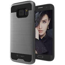 Galaxy S7 Edge Case Slimtech Precision Slim Fit Dual Layer Metallic Space Gray