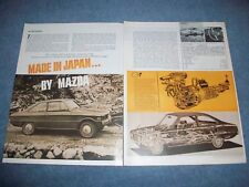 """1970 Mazda R 100 Vintage Road Test info Article """"Made in Japan..."""" Rotary R100"""