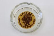 "Clear Glass Round Ashtray CAESARS BOARDWALK REGENCY HOTEL CASINO 3.5"" Diameter"