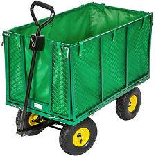 tectake Carrito de Transporte 102x54x79,5cm - Verde (400705)