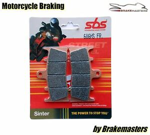 SBS 686HS Street Sinter front brake pads for Suzuki GSXR1000 K1/2 2001-02 FA188