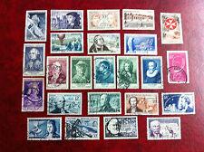 Lot de 24 timbres oblitérés Années 1955/57 Cote + de 190 euros Lot 653