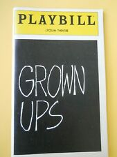November 1981 - The Lyceum Theatre Playbill - Grown Ups - Bob Dishy