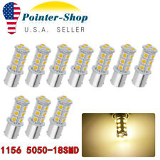 10x 1156 BA15S 18SMD LED Light Reverse BrakeTail Bulbs 1141 1073 Warm White 12V