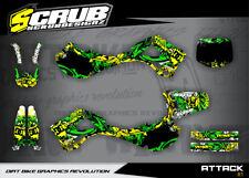 Kawasaki graphics KX 125 250 1999 2000 2001 2002 '99 '00 '01 '02 SCRUB motocross