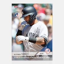 2018 Topps Now~Card #288 ~ Gleyber Torres ~ 10+ HR's in a season before 22nd Bir