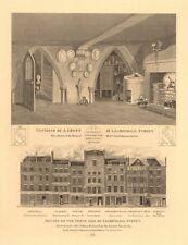 lucknow street. häuser an der nord seite nach 1765 fire. crypt 1834