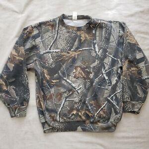 Liberty Realtree Hardwood Sweatshirt Size Medium Green/Brown