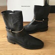 Auth Balenciaga Shoes booties boots blk $1200 NIB
