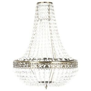Large  Victoria Jewelled Chandelier Light Ceiling Pendant Ceiling Lighting Gold