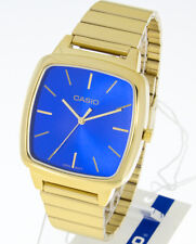 Casio Collection Herrenuhr LTP-E117G-2AEF Retro Farbe gold Ziffernblatt blau NEU