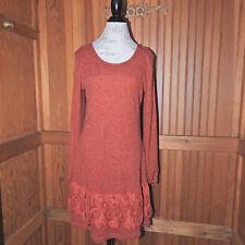 Burnt Orange Sweater Dress Size Large