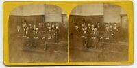 Court of Law Jury ? Vintage Stereoview Photo by S.Towle , Lowell , Mass.