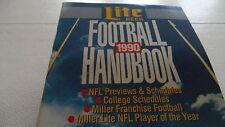 1990 NFL & College Football Handbook by Lite Beer 53 pages