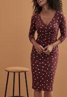 NEW BRAVISSIMO Jessica Dress- Midi Smart Formal Evening Work Casual Dress(BR138)