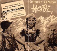 Filmprogramm   HEIDI  - Shirley Temple