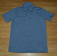 VINEYARD VINES PERFORMANCE BLUE STRIPED POLO SHIRT BOYS SZ 7 *GUC*