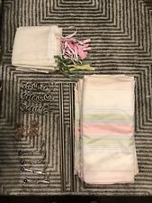 Pottery Barn Kids Curtains, Sheers, Double Rods, Rings, & Butterfly Finials