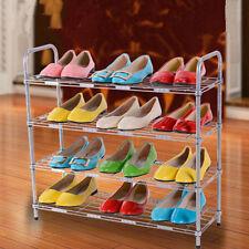 Household Carbon Steel 4-Tier Shoe Rack Storage Holder Organizer Cabinet Shelf