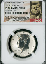 US Coin 2018-S Silver Kennedy Half Dollar Reverse Proof NGC PF69 NO RESERVE!