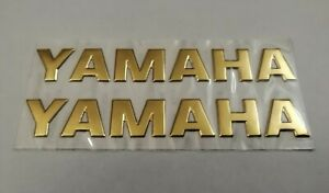 YAMAHA 3D GOLD BADGE LOGO STICKERS GRAPHICS DECALS SUPERBIKE R1 R6 MT01 MT07 YZF