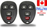 2x New Keyless Entry Remote Control Key Fob For Chevy Buick GMC Shell / Case