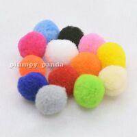 Mixed Color Fluffy Pom Pom Pompoms Soft Feel Fuzzy Plush Ball Shaped Multi Sizes