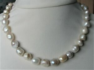 Large Baroque Pearls Necklace Knotted