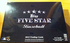 2013 Topps 5 Five Star Trading Cards MLB Hobby Baseball Box MLB 5 Cards Autos