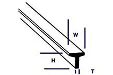 Plastruct estireno tfs-2 (90562) 10 X 1,6 Mm X 250mm longitudes T secciones