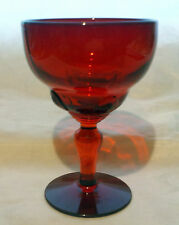 "Ruby Red Moondrops Goblet  4"" tall"