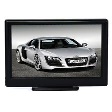 ABS 5 Inch High Resolution HD 800X480 Car TFT LCD Monitor Screen 2ch Video Black