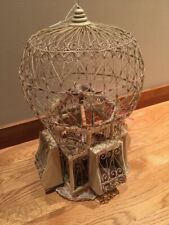 """Vintage Victorian Wire Birdcage - Dome 20"""" Tall x 11"""" W"""