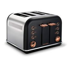 Morphy Richards Accents 4 Slice Wide Slot Toaster In Black Rose Gold 242104