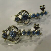 Vintage Scatter Pins KEYS Blue Rhinestones CUTE