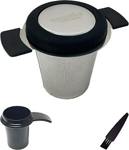 Stainless Steel Tea Filter, Infuser with Silicone Handle and Silicone Drip Lid