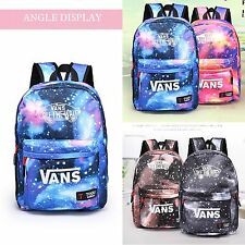 Womens Boys Galaxy Canvas Rucksack Backpack Leisure Travel School Shoulder Bags
