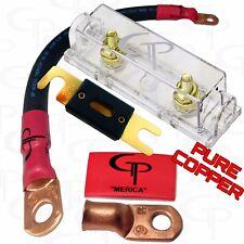150 AMP ANL Fuse Holder INLINE Block BATTERY INSTALL KIT 2/0 AWG GAUGE COPPER BR