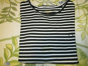 Liz Claiborne Ladies Black and White Stripe Top - 1X