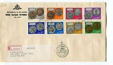 1972 FDC San Marino Ripresa della monetazione 1864 RACCOMANDATA First Day Cover