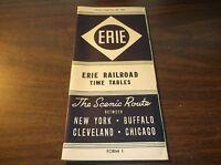 SEPTEMBER 1943 ERIE RAILROAD FORM 1 SYSTEM PUBLIC TIMETABLE