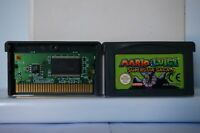 Mario Luigi Superstar Saga nintendo game boy advance GBA gameboy EUR original